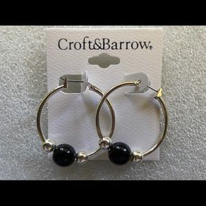 Black Croft & barrow hoop earrings
